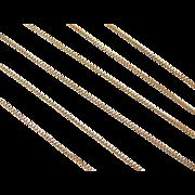 """Vintage 14k Gold Long Box Chain ~ 26"""" ~ 3.1 Grams"""