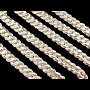 "Vintage 14k Gold Gents Curb Link Chain ~ 24 1/2"" ~ 26.1 Grams"