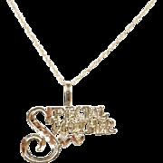 Vintage 14k Gold Special Mother Necklace