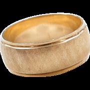 Vintage 14k Gold Wide Band Ring
