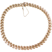 """Vintage 14k Gold Necklace ~ 16 1/2"""" ~ 33.4 Grams"""