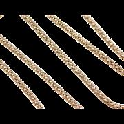 "Vintage 14k Gold Popcorn Chain ~ 16 3/4"" ~ 9.1 Grams"