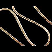 """Vintage 14k Gold Flat Herringbone Chain ~ 20"""" ~ 2.7 grams"""