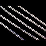 """Vintage 14k White Gold Serpentine Chain ~ 16"""" ~ 1.1 grams"""
