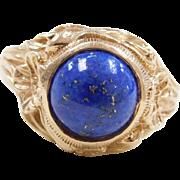 Vintage 14k Gold Lapis Ring