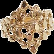 Vintage 14k Gold Nugget Ring