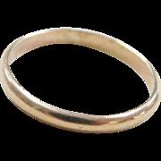 Vintage 14k Gold Thin Band Ring