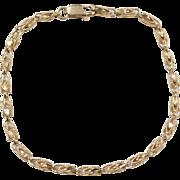 """Vintage 10k Gold Bracelet ~ 7"""""""
