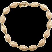 """Vintage 14k Gold Bead Bracelet ~ 8"""""""