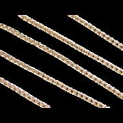 "Vintage 14k Gold Popcorn Chain 19"" ~ 3.3 Grams"