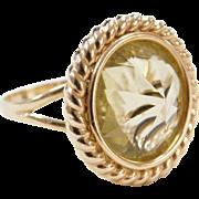 Vintage 14k Gold Citrine Ring
