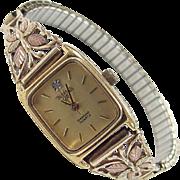 Vintage 10k Gold Tri-Color Back Hills Gold Watch