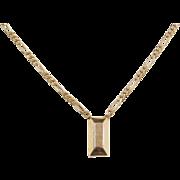 """Vintage 14k Gold Figaro Link Bar Necklace ~ 22 1/2"""" ~ 25.0 Grams"""