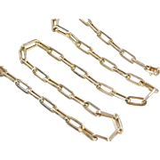 "Vintage 14k Gold Big Link Chain ~ 21 1/2"" ~ 26.5 Grams"