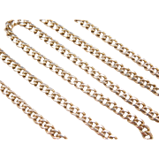 "Vintage 14k Gold Long Curb Link Chain ~ 24"" ~ 37.3 Grams"