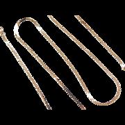 """Vintage 14k Gold Serpentine Chain ~ 18"""" ~ 2.6 Grams"""