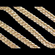 "Vintage 18k Gold Men's Curb Link Chain ~ 21"" ~ 44.0 Grams"