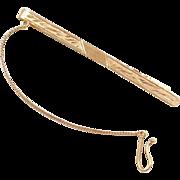Vintage 18k Gold Men's Tie Bar Clip