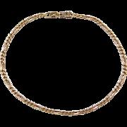 """Vintage 18k Gold Figaro Link Bracelet ~ 7"""""""