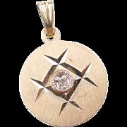 Vintage 14k Gold Diamond Pendant
