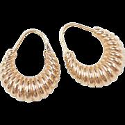 Vintage 18k Gold Hoop Earrings