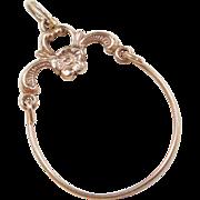 Vintage 14k Gold Flower Charm Holder Pendant