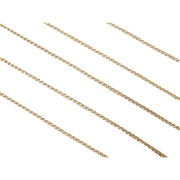 """Vintage 14k Gold Thin Curb Link Chain ~ 18"""" ~ 0.8 Grams"""