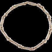 """Vintage 14k Gold Link Bracelet ~ 7 1/4"""""""