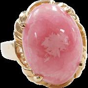 Vintage 14k Gold Rhodochrosite Ring