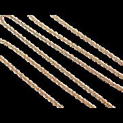 "Vintage 14k Gold Long Loose Rope Chain ~ 24"" ~ 4.4 Grams"