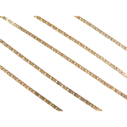 "Vintage 14k Gold Snail Chain ~ 20"" ~ 3.6 Grams"
