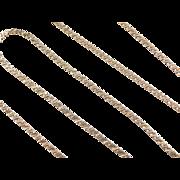 """Vintage 14k Gold Serpentine Chain ~ 20"""" ~ 7.9 Grams"""
