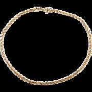 "Vintage 14k Gold Diamond Cut Rope Bracelet ~ 7 1/4"""
