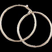 Vintage 14k Gold Thin Hoop Earrings
