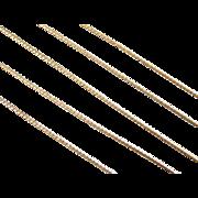 """Vintage 14k Gold Thin Serpentine Chain ~ 15"""" ~ 1.4 Grams"""