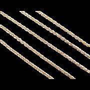 """Vintage 14k Gold Link Chain ~ 19"""" ~ 2.5 Grams"""