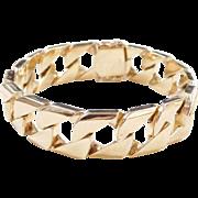 "HEAVY Gents 14k Gold Curb Link Bracelet ~ 8 1/2"" ~ 103.8 Grams!!!"