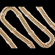 """Vintage 18k Gold Link Chain ~ 17 1/2"""" ~ 18.1 Grams"""