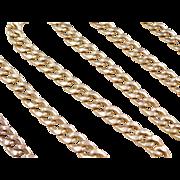 "Vintage 14k Gold LONG Curb Link Chain 25"" ~ 19.0 Grams"