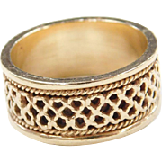 Vintage 14k Gold Woven Ring