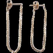 Vintage 14k Gold Serpentine Hoop Earrings