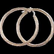 Vintage 14k Gold BIG Twisted Hoop Earrings