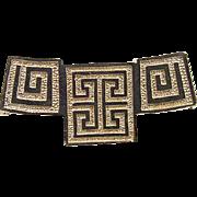 Vintage 14k Gold Greek Design Pendant