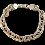 """Vintage 14k Gold Link Charm Bracelet ~ 7 3/8"""""""