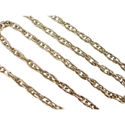 """Vintage 18k Gold Twisted Chain ~ 20"""" ~ 15.4 Grams"""