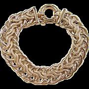 """Vintage 14k Gold Wide Bracelet ~ 7 1/4"""""""