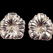 Vintage 14k Gold Big Flower Earring Jackets