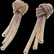 Vintage 14k Gold Woven Knot Earrings