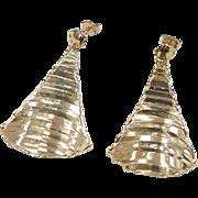 Vintage 14k Gold Big Earrings