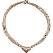 "Vintage 14k Gold Woven Knot Necklace 17"""